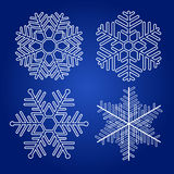 Set of vector snowflakes Royalty Free Stock Images