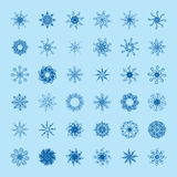 Set of vector snowflakes Stock Image