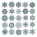Set of vector snowflakes stock photography