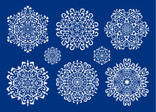 Set of vector snowflakes Royalty Free Stock Photography