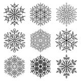 Set of Vector Snowflakes Royalty Free Stock Image