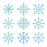 Set of vector snowflakes. flat icons Stock Image