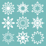 Set of vector snowflakes. Handmade collection for Christmas Royalty Free Stock Images