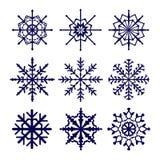 Set of vector snowflakes icons Stock Photos