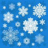 Set of vector snowflakes. Isolated objects. EPS10 Stock Image