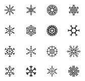 Set of vector snowflakes Stock Images