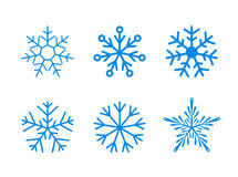 set of vector snowflakes on white Stock Photography