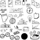 Set of vector social media business, finance Royalty Free Stock Image