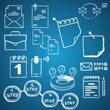 Set of vector social media business, finance Royalty Free Stock Images