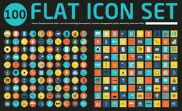 Set of 100 vector social media icons. Stock Image