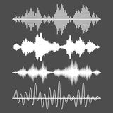Set of vector sound waves Royalty Free Stock Images