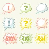 Set of vector speech bubble. With space for your text Stock Photography