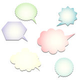 Set of vector speech bubbles Royalty Free Stock Photography