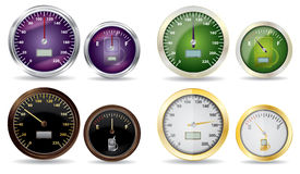 Set of vector speedometer and fuel icon Stock Image