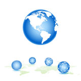 Set vector sphere Stock Image