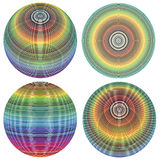 Set of vector spheres. Spheres in full color range from different angles Royalty Free Stock Photos