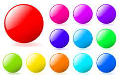 Set of vector spheres Stock Image