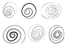 Set of vector spiral Royalty Free Stock Image