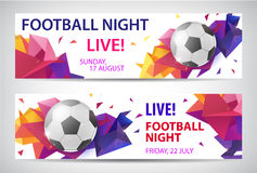 Set of vector sport football banners Royalty Free Stock Images