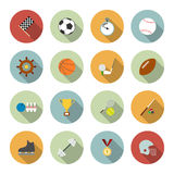 Set of vector sport icons in flat design Royalty Free Stock Image