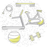 Set vector sport icons in line style Stock Image