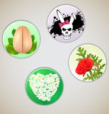 Set  of vector spring pins Stock Images