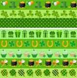 Set of vector st. patricks ornaments Stock Photo