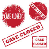 Case closed rubber stamp. A set of vector stamp case closed Royalty Free Stock Photos