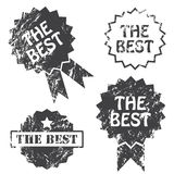 Set of the best vector stamp. Set of vector stamp with words The best Stock Photo