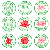 Set of vector stamps Stock Images