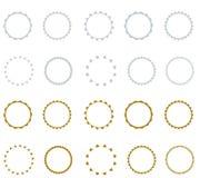 Set of vector starburst, sunburst badges.  Simple flat style. Vintage labels. Round vignette, frame Royalty Free Stock Image