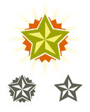 Set of vector stars Royalty Free Stock Photography