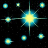 Set of vector stars Royalty Free Stock Images