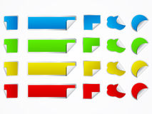 Set of vector stickers Stock Image