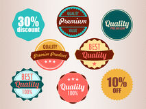 Set of vector stickers Stock Images