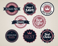 Set of vector stickers Stock Photography