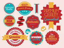 Set of vector stickers Royalty Free Stock Photo