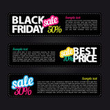 Set of vector stickers. Black friday Stock Photos
