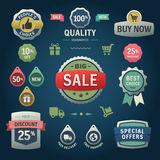 Set of vector stickers, labels, tags and icons. Da. Vector elements. Shopping tags and icons Royalty Free Stock Images
