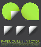 Set of Vector Stickers with Paper Curl. EPS 10 Stock Photo
