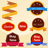 Set of vector stickers and ribbons. Set of vector stickers and  ribbons Stock Photography