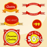Set of vector stickers and ribbons Stock Photo