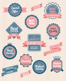 Set of vector stickers and ribbons Royalty Free Stock Photography