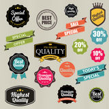 Set of vector stickers and ribbons Stock Photography