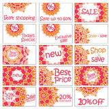 Set of vector stickers Royalty Free Stock Photos