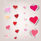 Set of vector stickers. Sets of stickers in the form of hearts Royalty Free Stock Photos