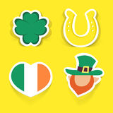 Set of vector stickers for St.Patrick's day design. Stock Photo