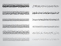 Set of Vector Stipple drawing brushes. Stipple pattern drawing brush set royalty free illustration