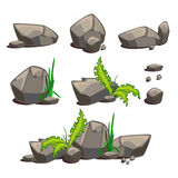Set of vector stones Royalty Free Stock Photos