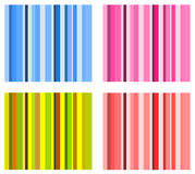 Set of vector stripe schemes Royalty Free Stock Photo